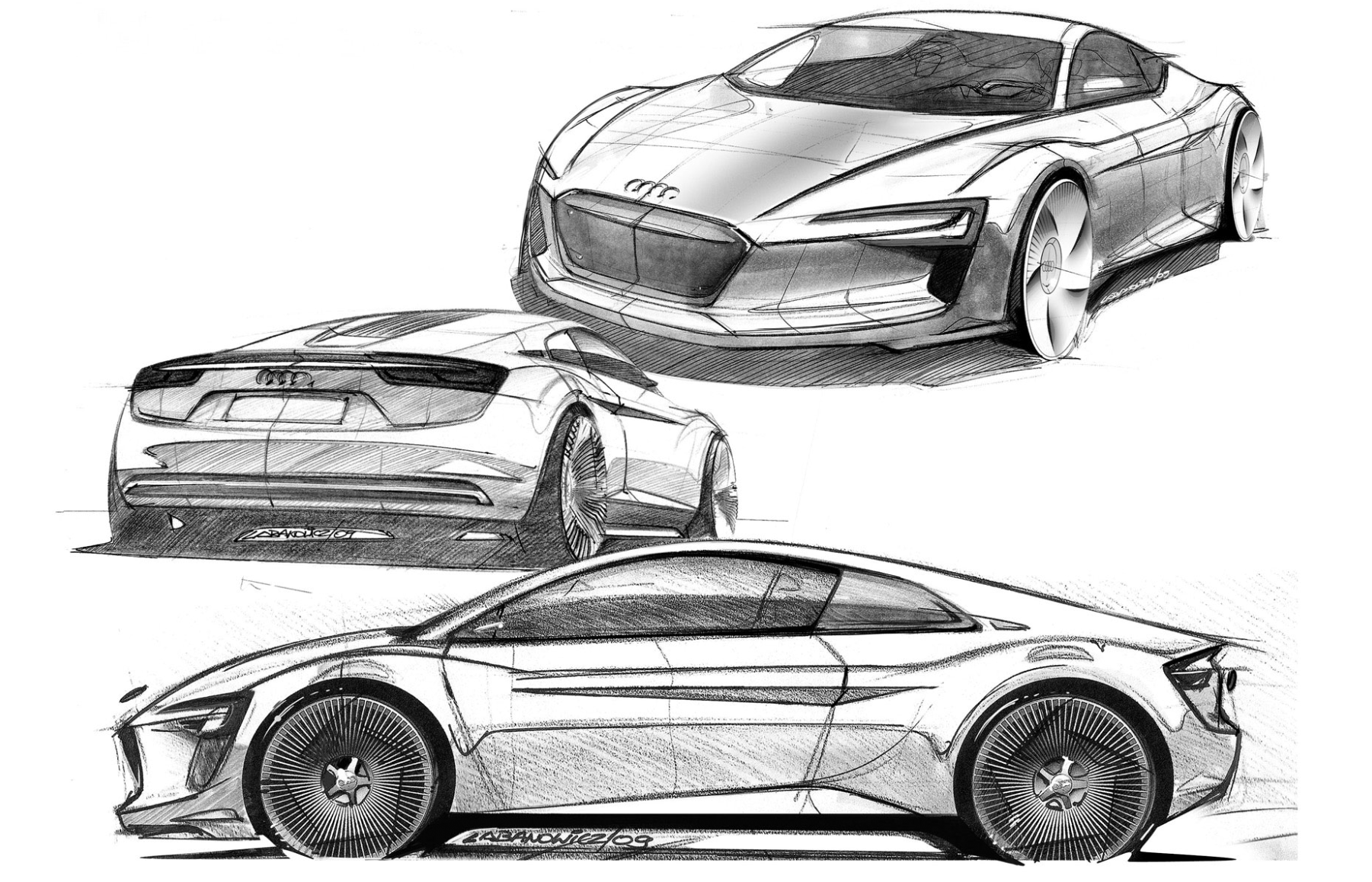 Audi Showcases Electric Sports Car AIChE - Audi car drawing