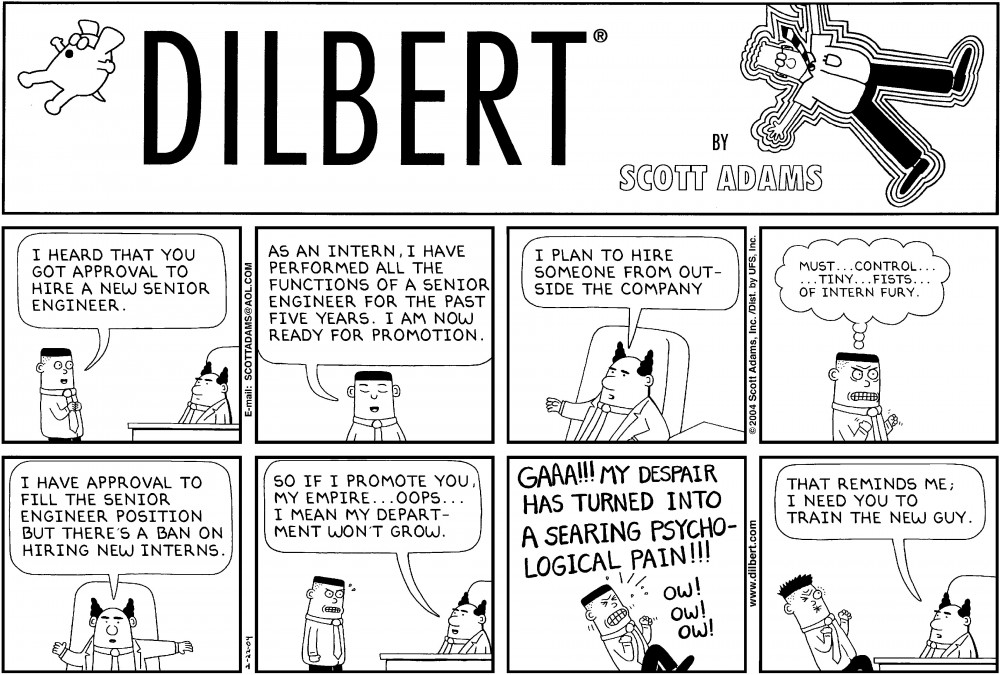 Extremely Funny Dirty Jokes Quotes likewise What Are The Best Most Humorous Dilbert Cartoons together with Business Cartoons also Funny Job Evaluation  ments furthermore Facts About Managers Better Work. on dilbert cartoon new job