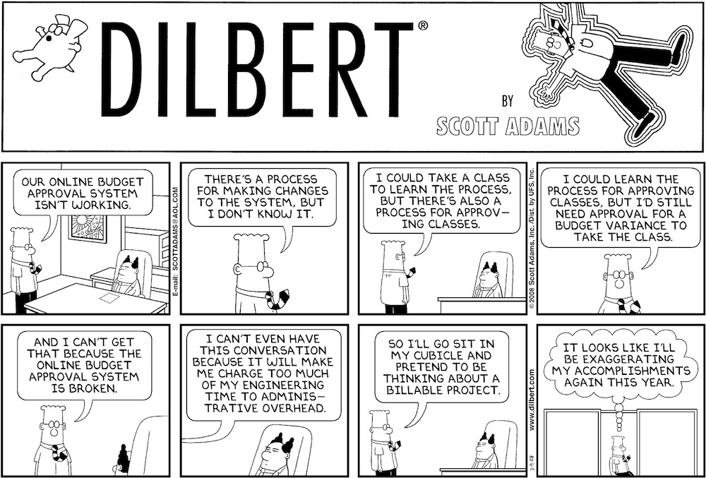 201 Dilbert Promotion further Watch furthermore Misunderstanding Statistics furthermore 1110439 Developer Jokes additionally Dilbert Ponders Process Creating Processesfriday Funny Bone. on funny dilbert