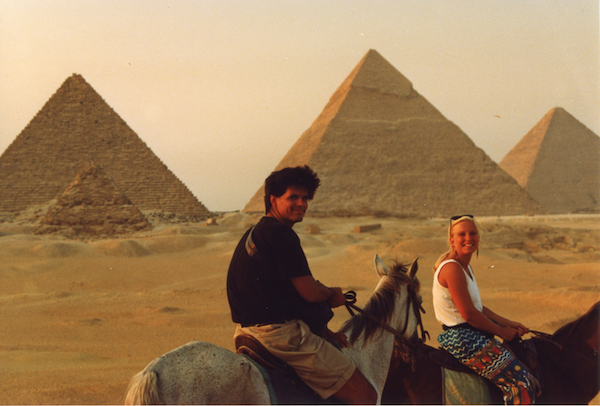 Stephanie with friend Jim in Giza