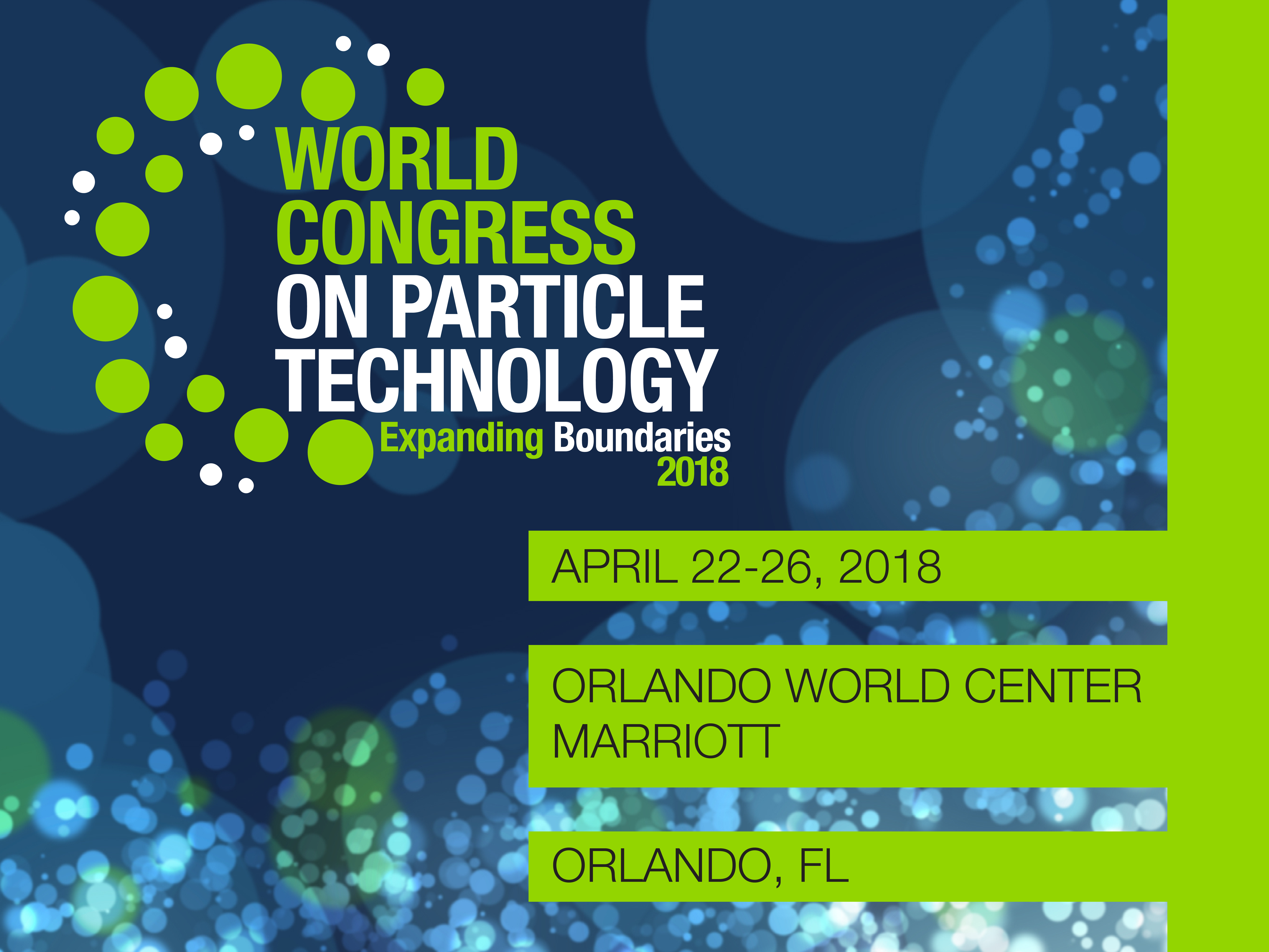 8th World Congress on Particle Technology | AIChE