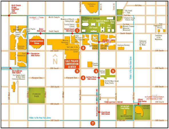 Hotel Information – Salt Lake City Tourist Map