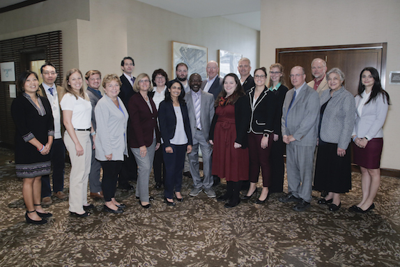 From left to right: Kristine Chin, Chi-Hwa Wang, Donna Bryant, Owen P. Jappen, Deborah Grubbe, Billy Bardin, Sidney Biddle, Annette Johnston, Avani M. Patel, Christopher Lowe, Robert Ofoli, David J. Dixon, Kaytlin Henderson, Clifford L. Henderson, Ashley Smith-Schoettker, Shelby Brooks, Alan Fuchs, Thomas O. Spicer III, Rena Bizios, and Gina Gatto