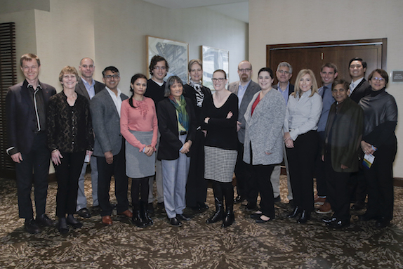 From left to right: Marc-Olivier Coppens, Laura Dietsche, J. Zach Hilt, Ravindra Aglave, Anju Gupta, Jonathan Haughton, Jean Tom, Wendy Young, Jessica Winter, David Silverstein, Kate Gawel, Vince Grassi, Ana Davis, Colin Young, Ranil Wickramasinghe, Cody Hirashima, and JoAnn Lighty