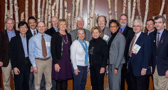 The Public Affairs and Information Committee, under the leadership of Phil Westmoreland (third from right), is working to expand AIChE's interaction with government, prioritize issues that impact chemical engineers, and develop tools for members conducting outreach at the grassroots level.