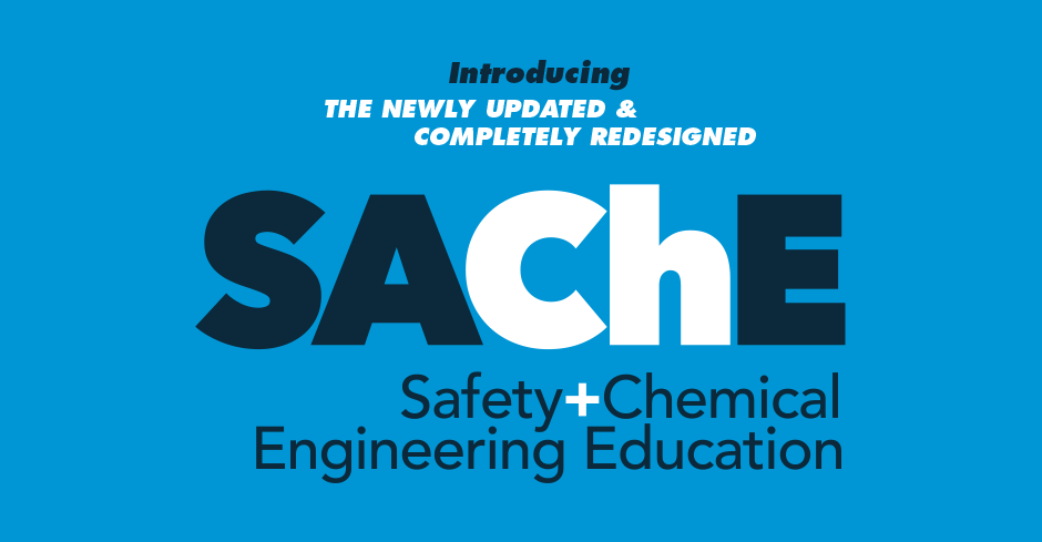 Safety And Chemical Engineering Education Sache Certificate