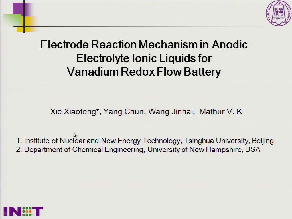 Investigation On Electrode Reaction Mechanism for Vanadium Redox