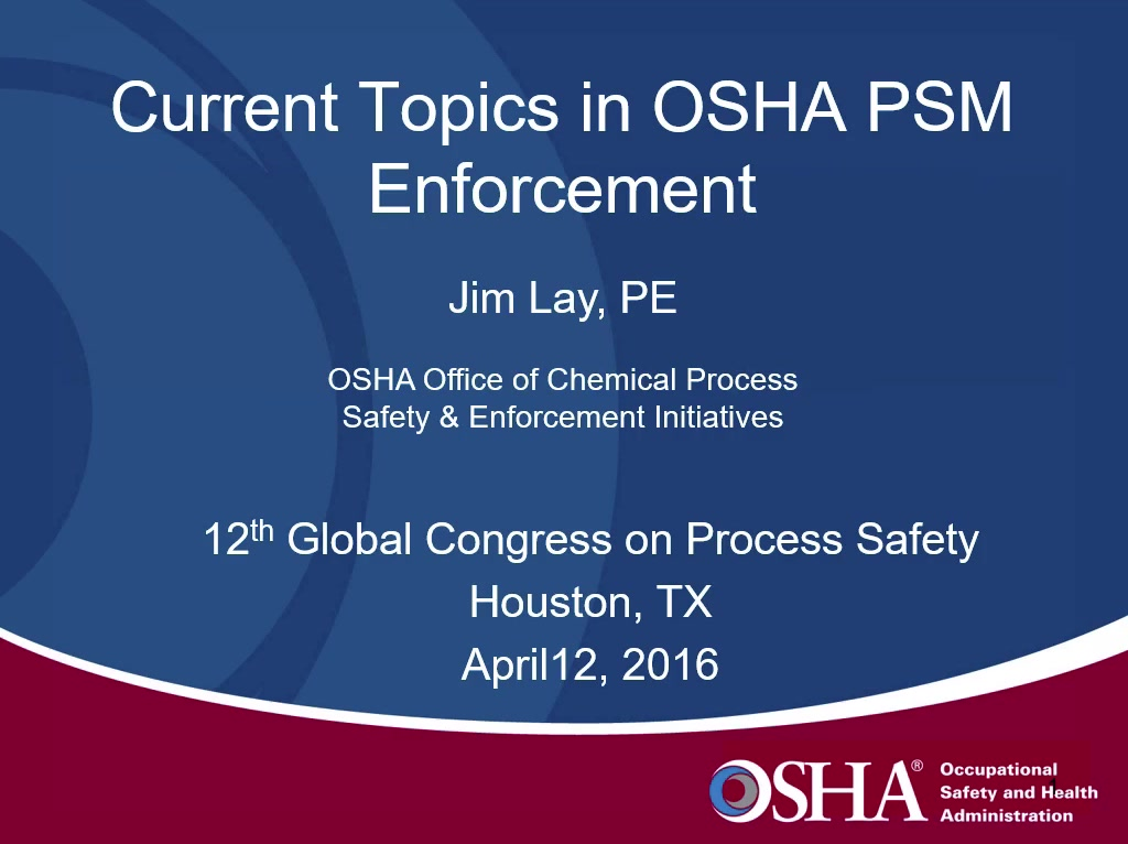 psm in process Proposed standard for process safety management this booklet summarizes the osha final process safety manage-ment (psm) the key provision of psm is process.