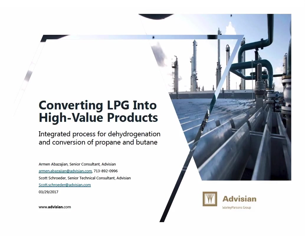 Converting Propane and Butane (LPG) in to High-Value