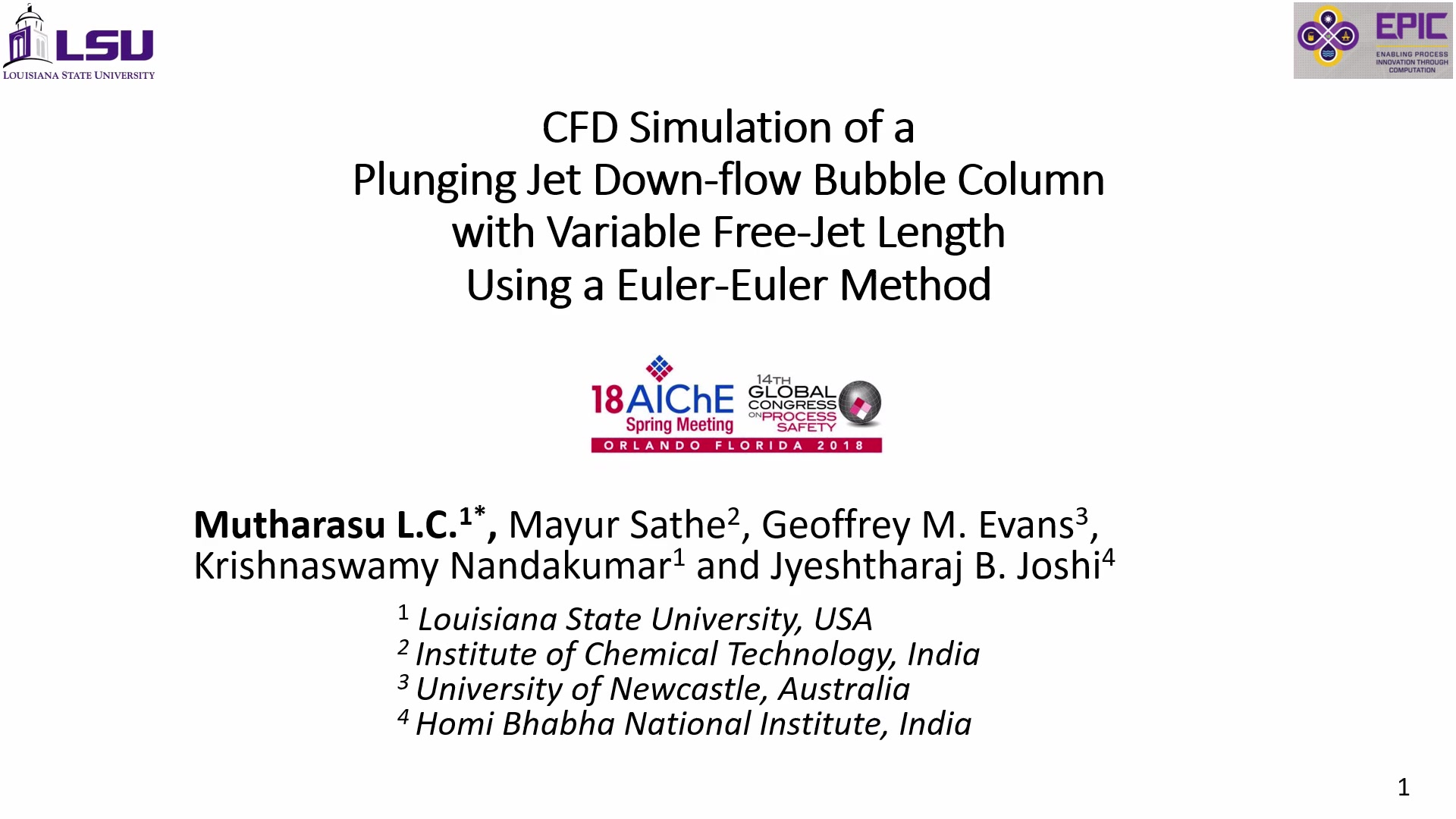 CFD Simulation of a Plunging Jet Down-Flow Bubble Column