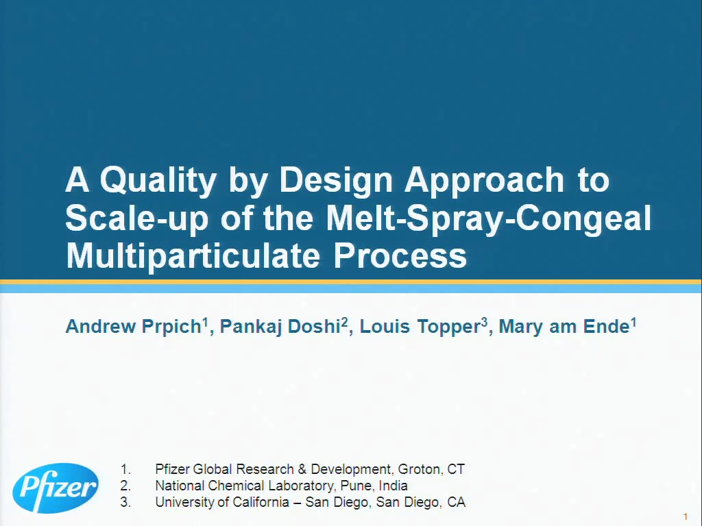 A Quality by Design Approach to Scale-up of the Melt-Spray-Congeal