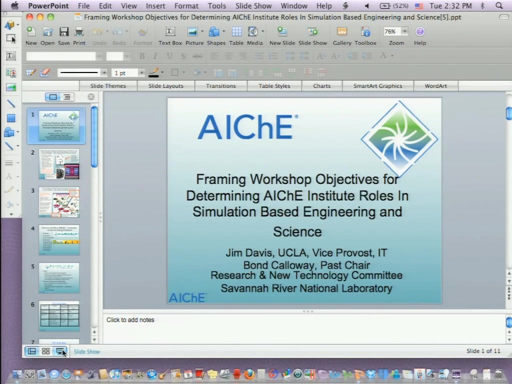 Introduction and Objectives of the Session | AIChE