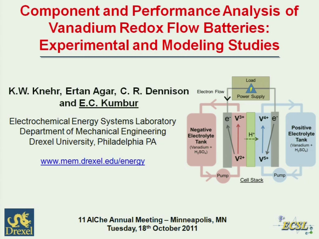 Component and Performance Analysis of Vanadium Redox Flow Batteries