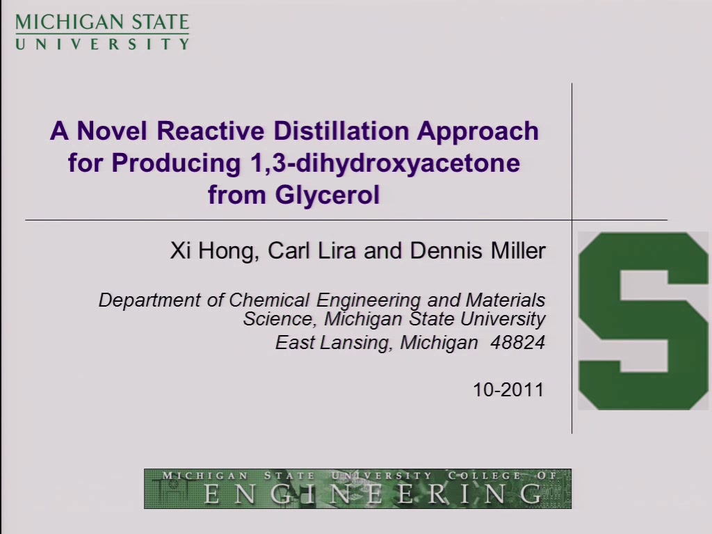 a novel reactive distillation approach for producing 1 3