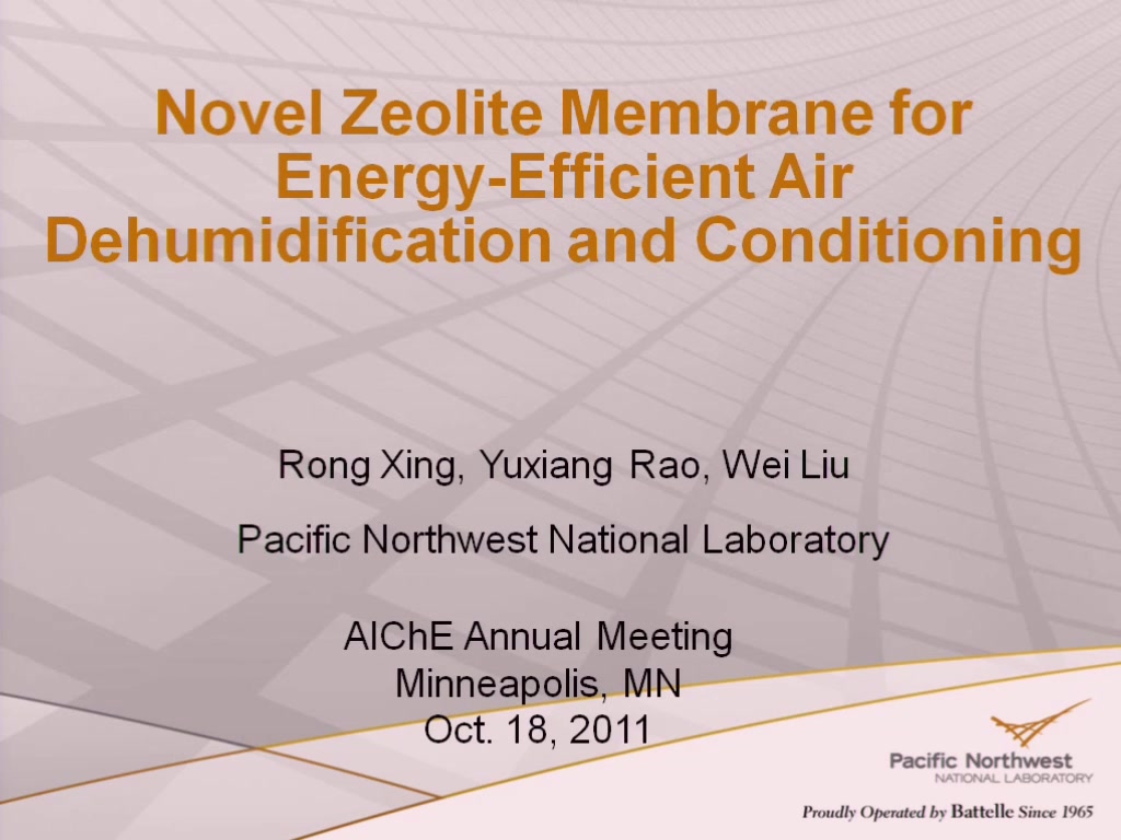Novel zeolite membranes for energy efficient air dehumidification and conditioning aiche - How to choose an energy efficient air conditioner ...