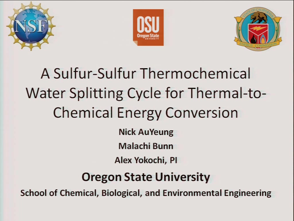 A Sulfur-Sulfur Thermochemical Water Splitting Cycle for