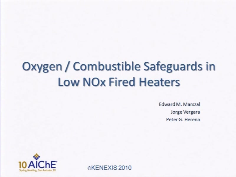 Oxygen Combustible Sauards In Low Nox Fired Heaters