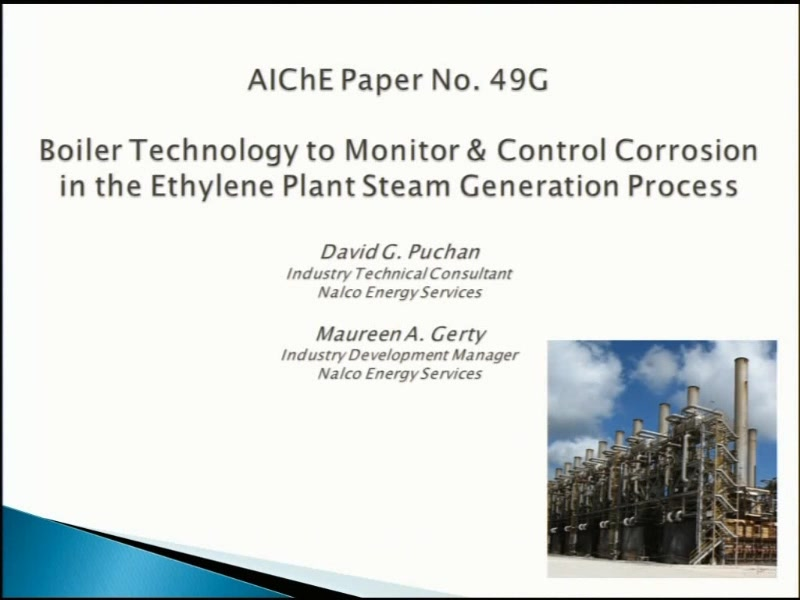 Boiler Technology to Monitor and Control Corrosion in the Ethylene ...