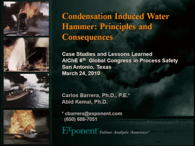 Condensation Induced Water Hammer: Principles and