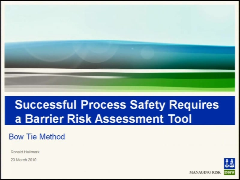 Successful Process Safety Management Requires A Barrier