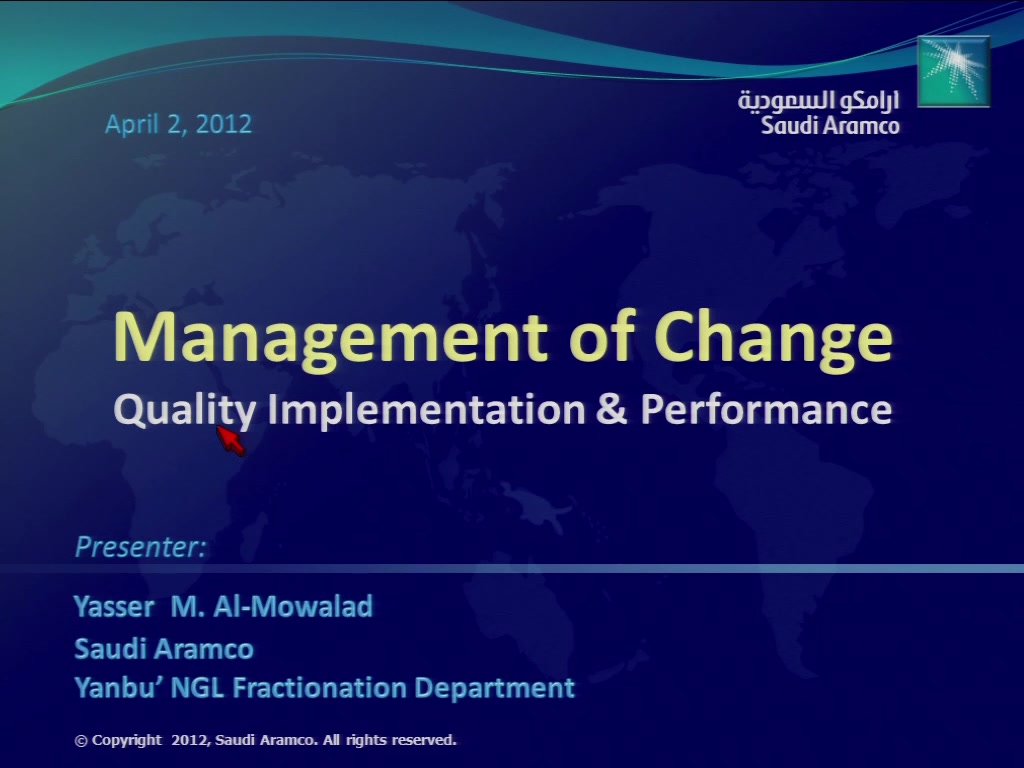 Management of Change: Quality Implementation and Performance | AIChE