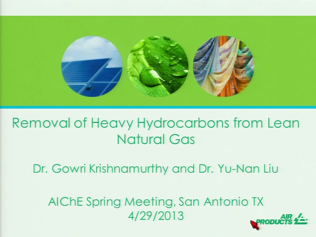 Removal of Heavy Hydrocarbons from Lean Natural Gas | AIChE