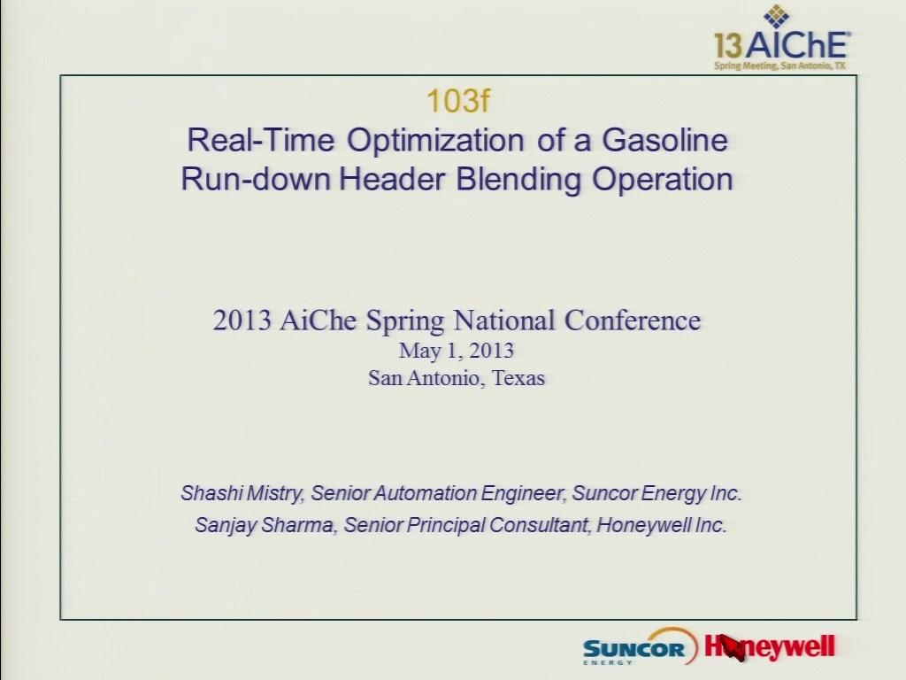 Blending dissertation gasoline optimization