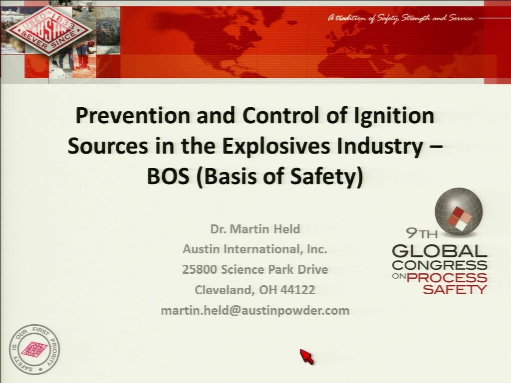 Prevention And Control Of Ignition Sources In The Explosives Since Electricity Is Not Something We Can Physically See Industry Bos Basis Safety