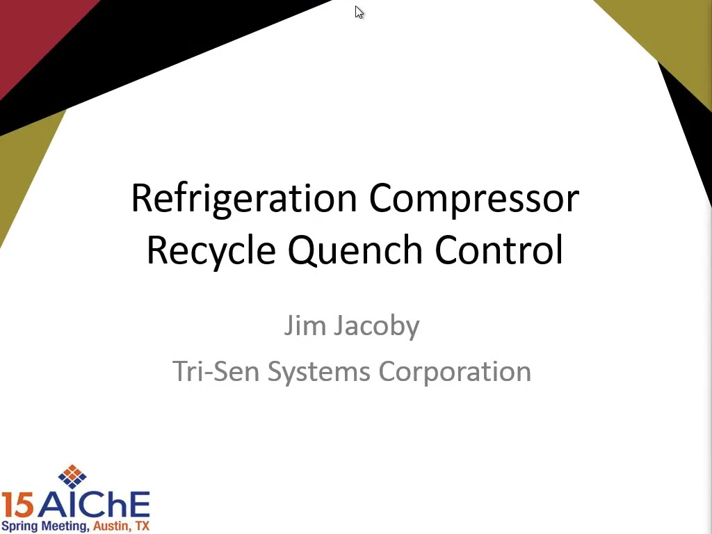 Refrigeration Compressor Recycle Quench Control | AIChE