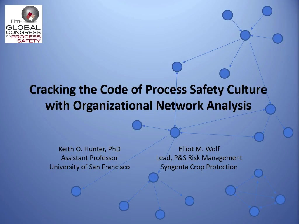 Cracking the Code of Process Safety Culture with Organizational