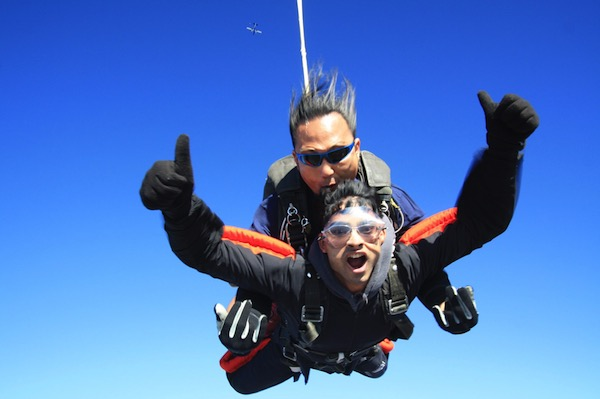 Nemoy skydiving!