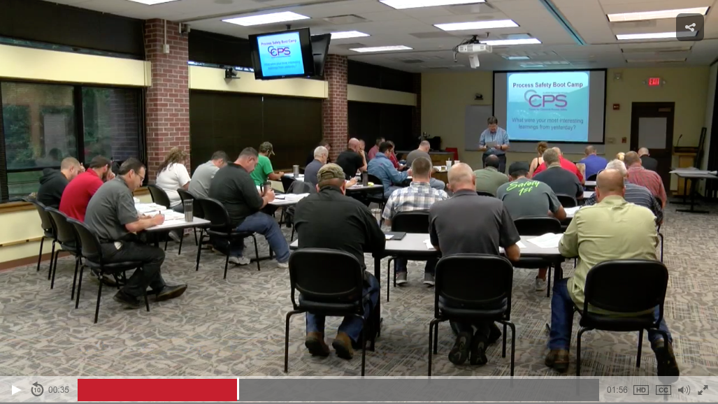Ethanol plant employees taking Process Safety Bootcamp Course