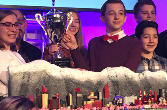 On February 18, a team from Warwick Middle School inLititz, PA, won the Grand Prize in the 2019 Future City Competition.