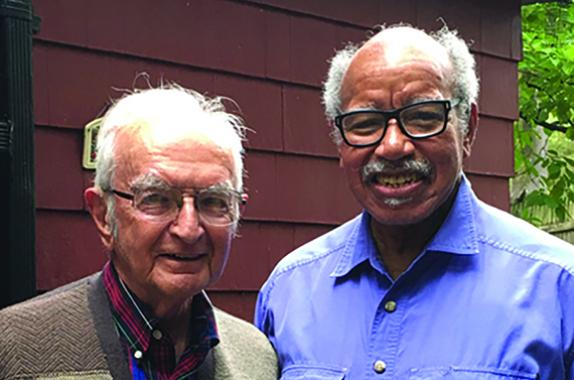 Gerald Lessells (left) with Henry Brown in 2017