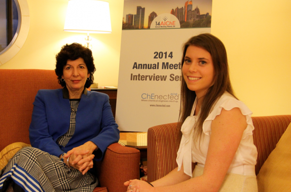 Dr. Nadya Fouad of Univ. Wisconsin-Milwaukee and Kelsey Kettlehut of AIChE