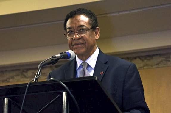 2014 President Otis Shelton Speaking at the Annual Student Conference Awards Ceremony
