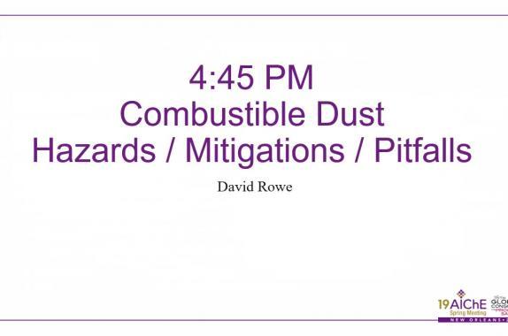 Dust Hazards | AIChE