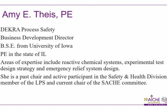 Chemical Reactivity Hazards AIChE