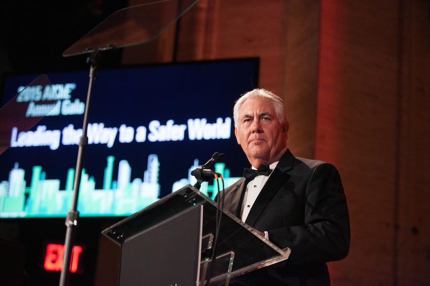 Honoree Rex Tillerson, chairman and CEP of ExxonMobil Corporation