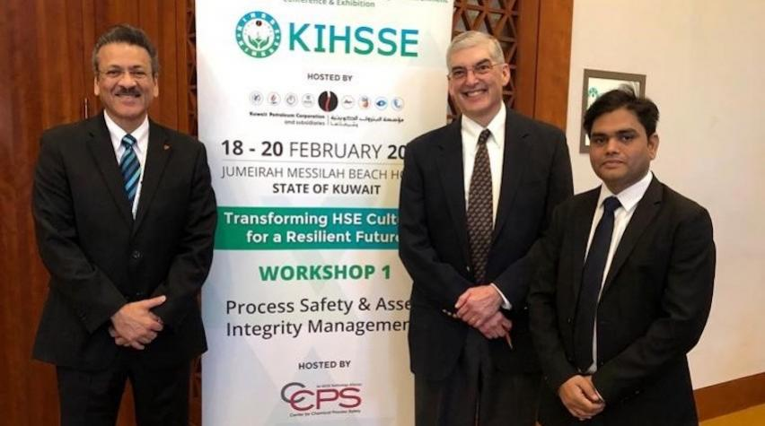 Left to right: Shakeel Kadri, Bruce Vaughen and Umesh Dhake at the KIHSSE Conference where Bruce and Umesh presented on RAST